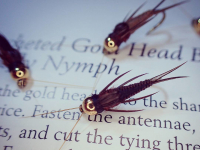 Crocheted Gold Head Brown Stonefly Nymph